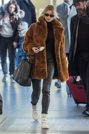 Lena Gercke seen at Tegel Airport