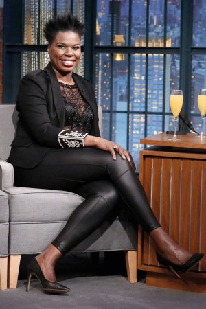 Leslie Jones at the Late Night with Seth Meyer