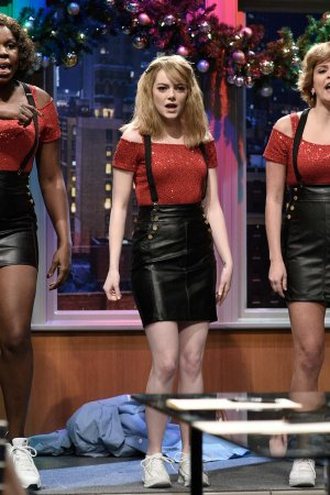 Leslie Jones, Emma Stone & Cecily Strong at the Cleaning Crew