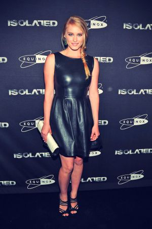 Leven Rambin arrives at the Isolated premiere