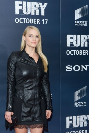 Leven Rambin attends Fury Washington DC Premiere