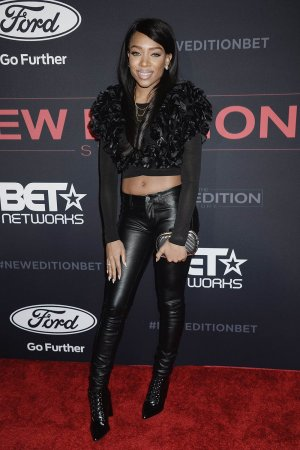 Lil Mama attends The New Edition Story Los Angeles Premiere