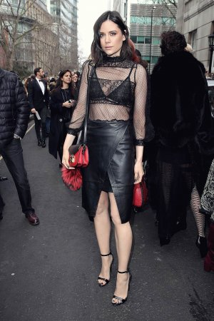 Lilah Parsons out and about at London Fashion Week