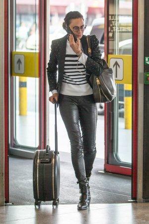 Lilly Becker seen at Berlin airport