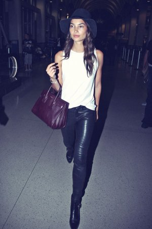 Lily Aldridge at Los Angeles International Airport