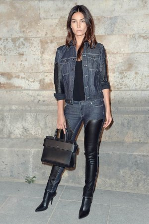 Lily Aldridge attends the Givenchy show