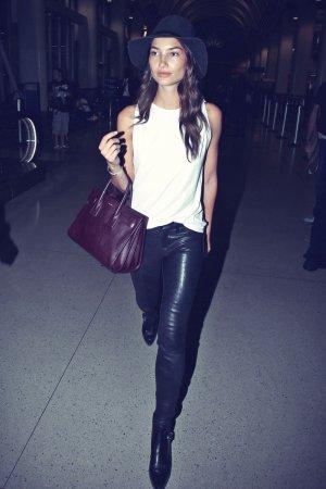 Lily Aldridge seen at LAX