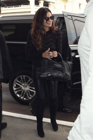 Lily Aldridge spotted at LAX Airport