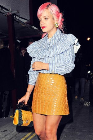 Lily Allen attends Love Magazine party