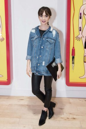 Lily Collins attends Beau Dunns Plastic Opening