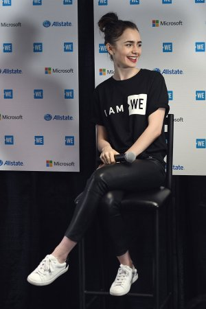 Lily Collins attends WE Day