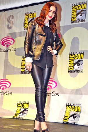 Lily Collins attends WonderCon 2013