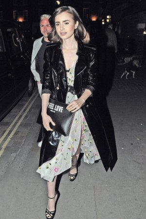 Lily Collins dined out at Chiltern Firehouse