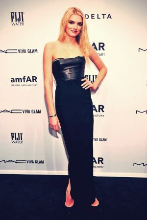 Lily Donaldson attends the amfAR New York Gala