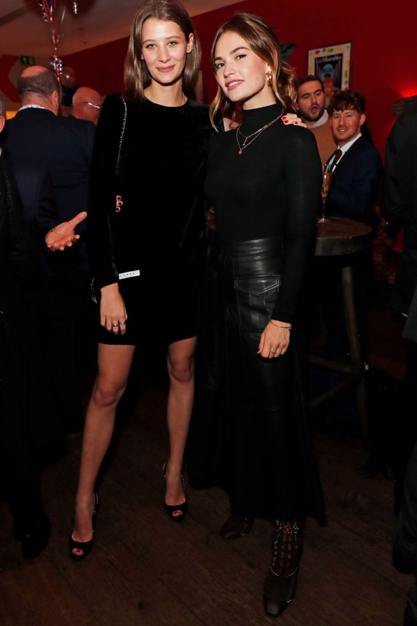 Lily James attends Les Miserables opening night after party