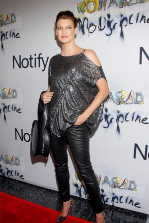 Linda Evangelista at Ron Arad No Discipline Exhibition Party in NYC