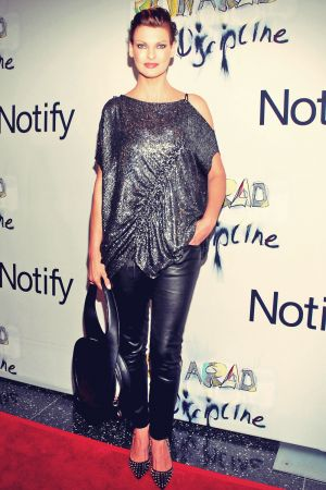 Linda Evangelista attends Ron Arad No Discipline Exhibition Party