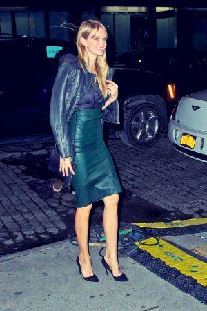 Lindsay Ellingson heads into the 2013 Victoria's Secret Fashion Show