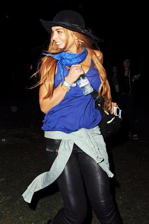 Lindsay Lohan at the Coachella festival 2012
