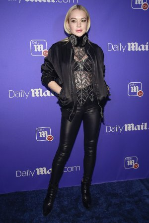 Lindsay Lohan attends Daily Mail TV Unwrap The Holidays