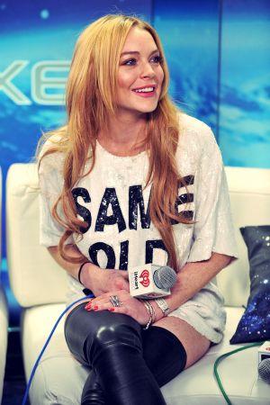 Lindsay Lohan attends Z100 Jingle Ball 2013