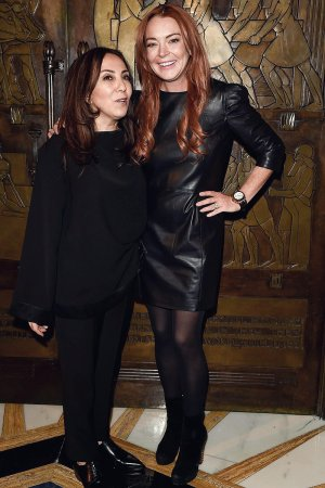 Lindsay Lohan attends Zeynep's Autumn Winter 2018 collection show