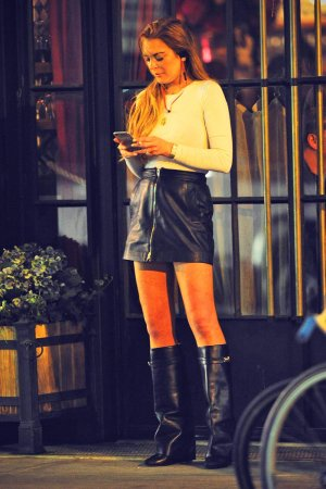 Lindsay Lohan Out in New York City