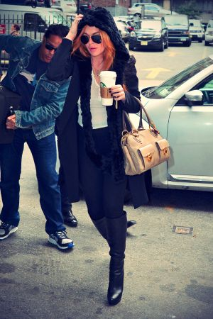 Lindsay Lohan pictured in the FlatIron District