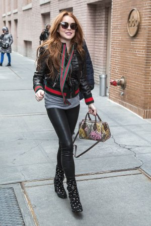 Lindsay Lohan seen out in Manhattan