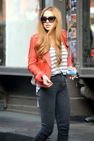 Lindsay Lohan spent an afternoon in NYC