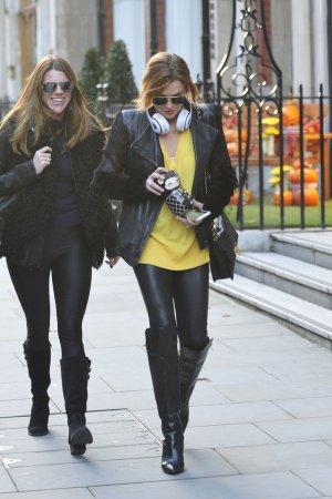 Lindsay Lohan strolling through Mayfair