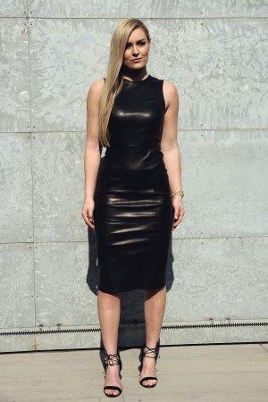 Lindsey Vonn attends the Giorgio Armani show