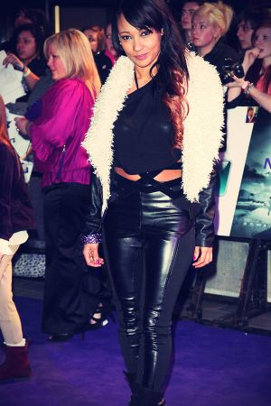 Lisa Maffia at Never Say Never premiere london