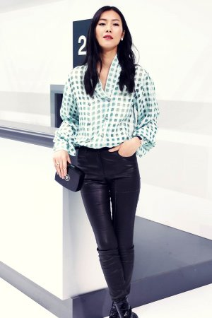 Liu Wen attends Chanel Show as part of Paris Fashion Week