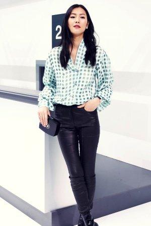 Liu Wen attends Chanel Show as part of Paris Fashion Week