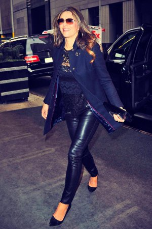 Liz Hurley out and about in NYC