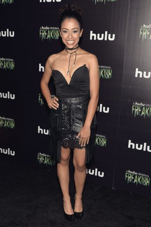 Liza Koshy attends the premiere of Hulu's Freakish