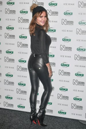 Lizzie Cundy attends Natural History Museum Ice Rink VIP Launch