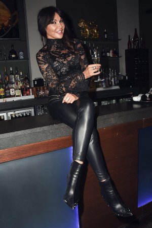 Lizzie Cundy attends the reopening of The Mango Tree