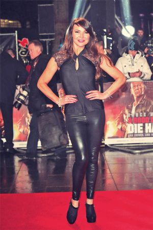 Lizzie Cundy attends the UK Premiere of A Good Day To Die Hard