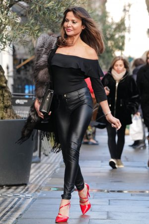 Lizzie Cundy seen at her favourite shoe shop