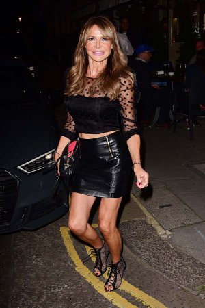 Lizzie Cundy seen at La Famiglia in Chelsea