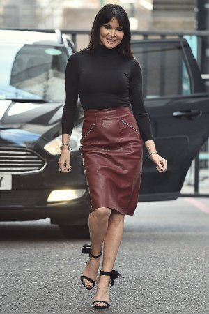 Lizzie Cundy spotted at the ITV Studios