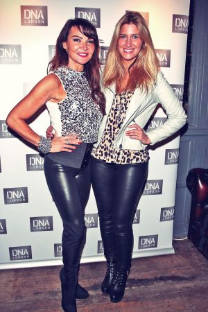 Lizzie Cundy With Francesca Hull at DNA London Club