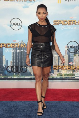 Logan Browning attends Spider-Man Homecoming Premiere