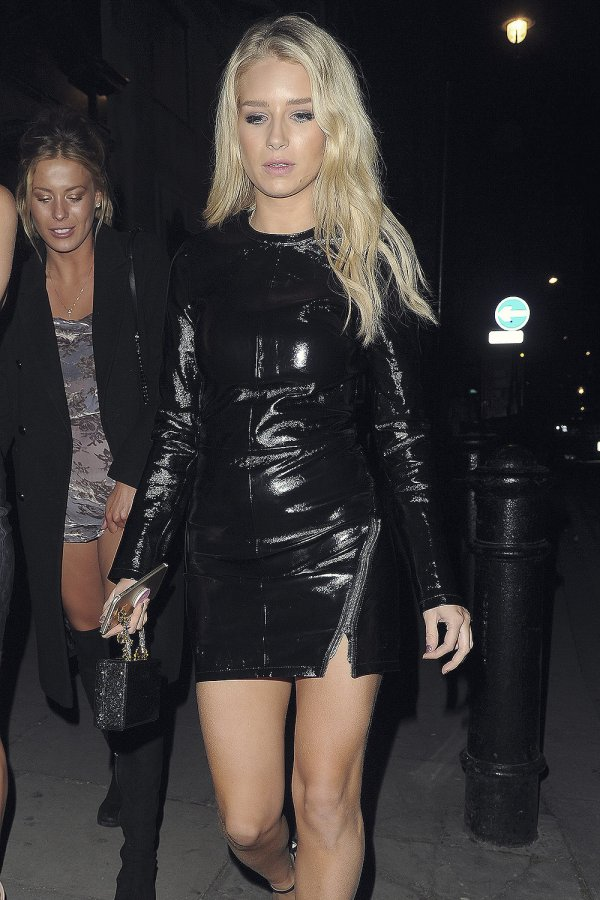 Lottie Moss arriving at Tape Night Club to celebrate her 20th Birthday