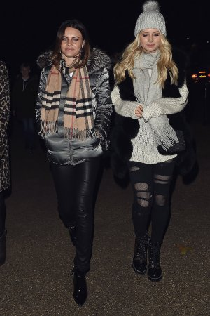 Lottie Moss & Emily Blackwell seen at Winter Wonderland