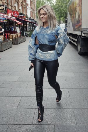 Louisa Johnson at BBC Radio 1 in London
