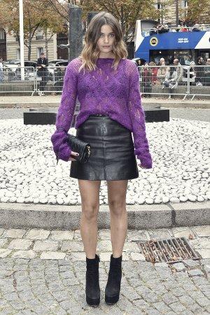 Louise Grinberg attends Miu Miu show