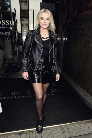 Lucy Fallon enjoys a spot of afternoon lunch